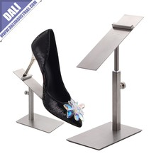 Elegant stainless steel shoes display stand for hiigh heels