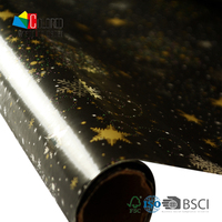 Shinning Star Design Gift Paper Rolls Gold Foil Wrapping Paper
