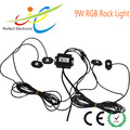8PCS CREE LED Lights Led Rock Light RGB Bluetooth control 16 million Colors IP 68 Under Off Road Truck SUV ATV
