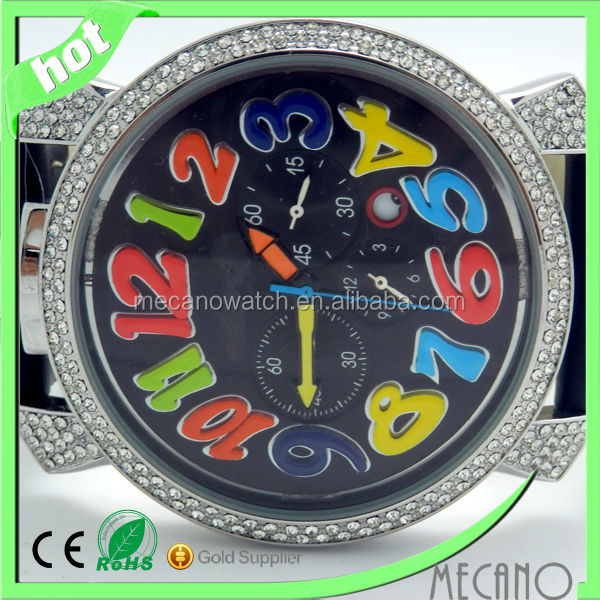 china factory cheap watch alibaba big colors Arabic numberals wristwatch crystal girl gift watches