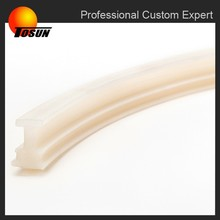 free of burrs ISO 9001 certificated OEM silicone shower door seal strip, rubber sealing, extruded silicone strips