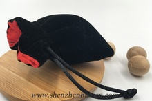Wholesale Black Velvet Drawstring Bag, Gem Bags Pouches