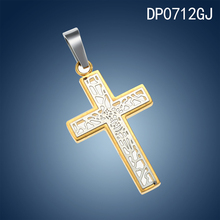 wholesale 316l stainless steel cross pendent stainless steel pendant newest desgin chain necklace 18k gold pendant elegant neckl