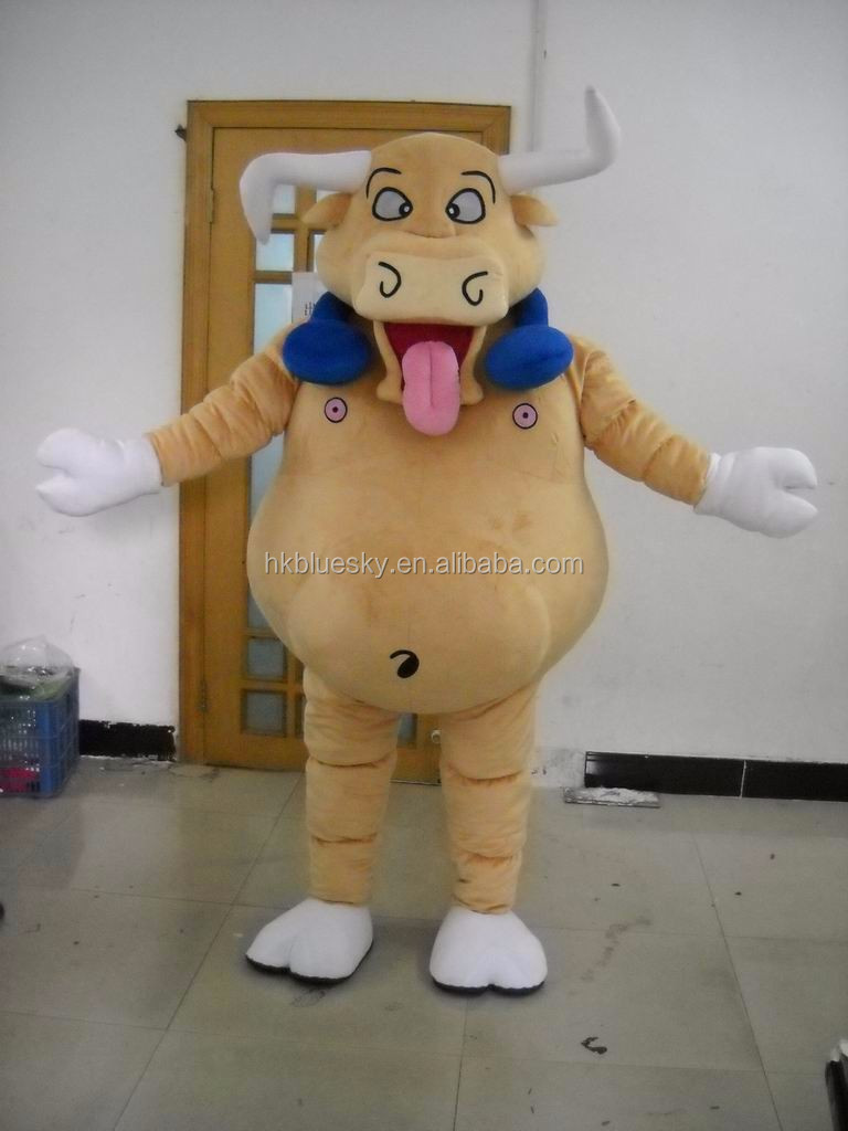 newly finished custom cattle mascot costumes