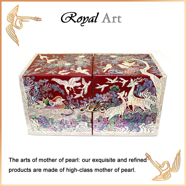 Luxury Jewelry Box with Mother of pearl inlaid; DO-1231