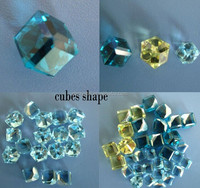 Aquamarine cube jewelry stone loose gemstone for earring and pendant