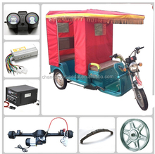 electric tricycle for passenger with free spare parts for Indian market (HJ-TRi8 )