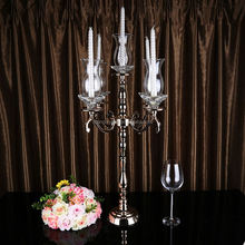 Hot selling OEM quality crystal cut glass candle holder with many colors