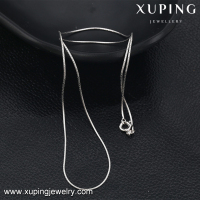 43074 XUPING jewelry white gold color alloy necklace,chain necklace