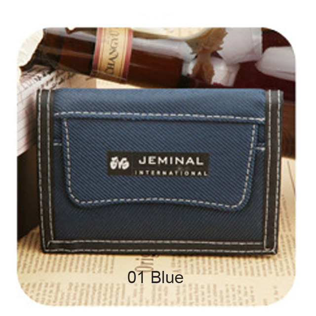 1pc Canvas Short Men Wallet Coin Pocket Credit Card Holder With Zipper Male Small Purse New 2016 -- 01BID036 PM49