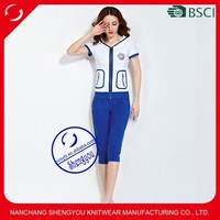Custom wholesale cheap womens cotton hooded sportswear sets