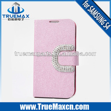 Wholesale Jeans Cloth Leather Case For Galaxy S4 Phone Case
