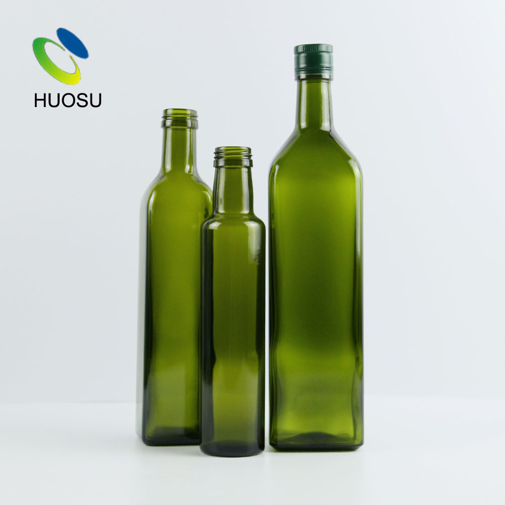 best extra virgin olive oil glass <strong>bottle</strong> 500ml 700ml 250ml dark green brown clear color with screw cap