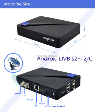 Faster 4k box android dvb s2+t2/c 7.1 pc home network box Amlgoic S905d smart box android tv with satellite tuner