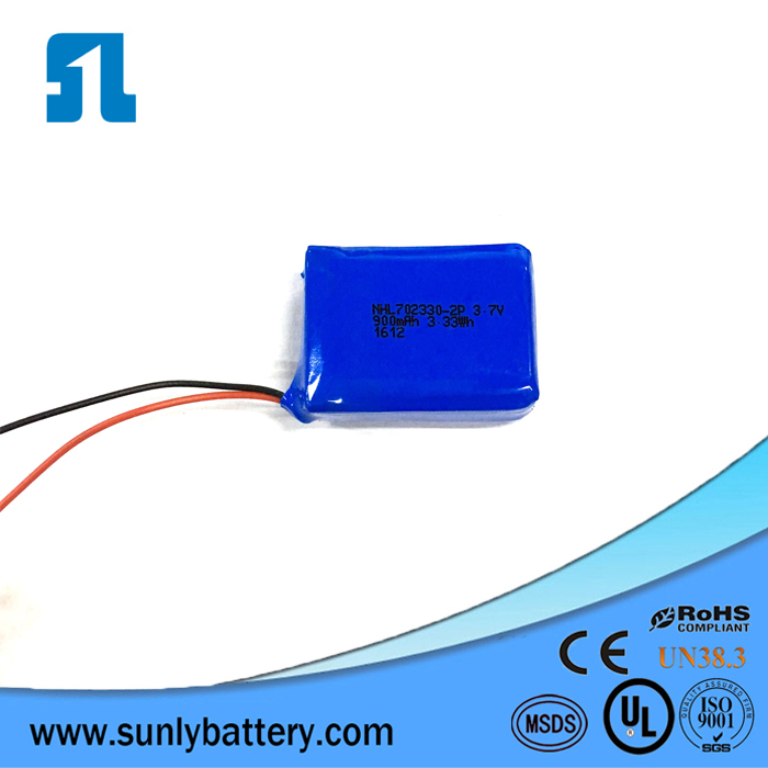 702330 3.7V 900mAh All Model Rechargeable Lithium Polymer Battery For Camera Pen