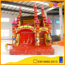 AOQI amusement park classical castle inflatable slide outdoor slide for commercial use