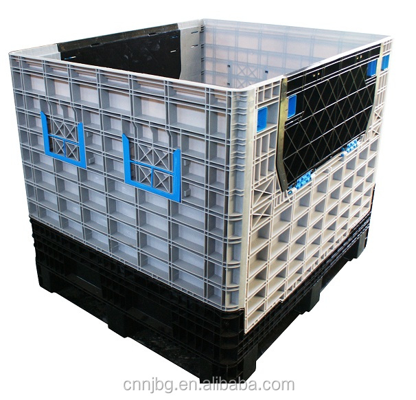 foldable large pallet box collapsible pallet box HDPE for heavy goods storage and transportation