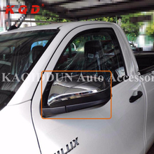 New design chrome LED side car mirror cover accessories for toyota hilux revo 2016