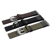 wholesale genuine leather black leather western watch band with adapter
