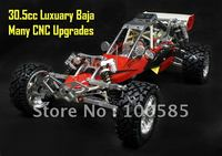 ***Super***30.5cc RC Baja with 2.4G transmitter RTR + CNC alloy front & rear Bumper + Alloy Wheel hub + alloy headset + many...