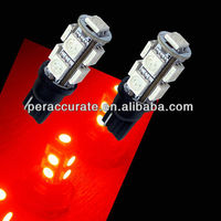 Car Auto LED Turn Light Bulbs RED LED 168 194 T10 Canbus