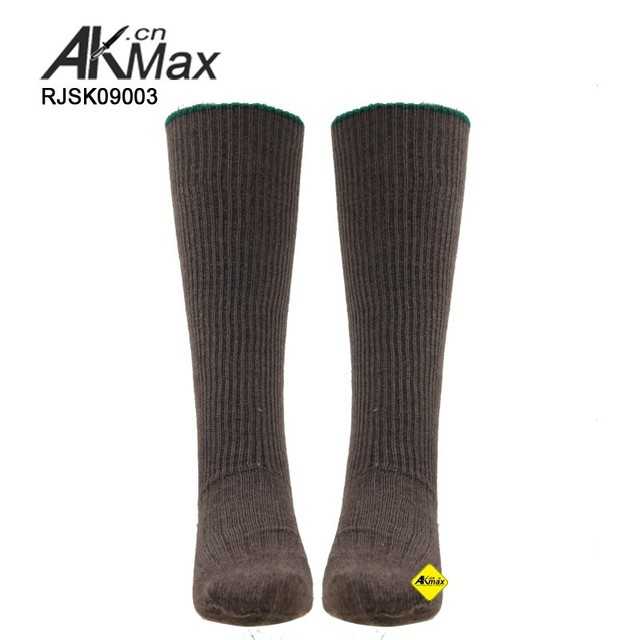 Military Brown long wool socks Commando Men's Socks