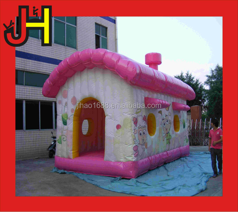 Mini inflatable pleasant goat cartoon /animal inflatable bouncy bouncer