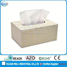 Luxury PU Leather embroidery tissue box cover