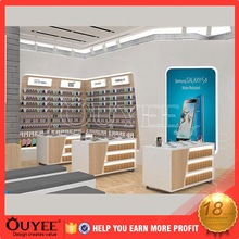 mobile phone retail counter showcase cell phone store interior design