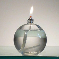 Ball Shaped Decorative Table Glass Oil Lamp