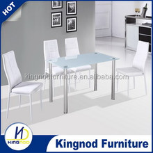 rectangular glass top dining table DT030