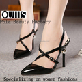 2015 Elegant slingback high heel sandals the patent PU pointed toe high heel pumps dress shoes PY3803