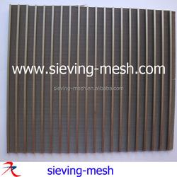 316 stainless steel wedge wire panels /Ss wire wrapped sieve bend screens factory