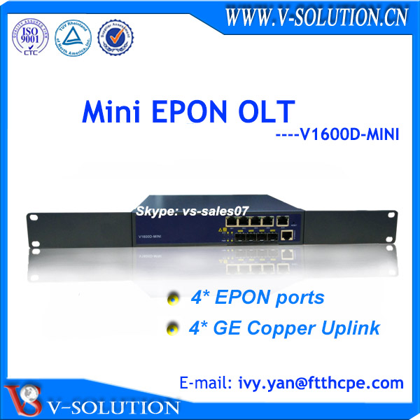 Low cost 4GE uplink and 4 PON GEPON EPON compact OLT