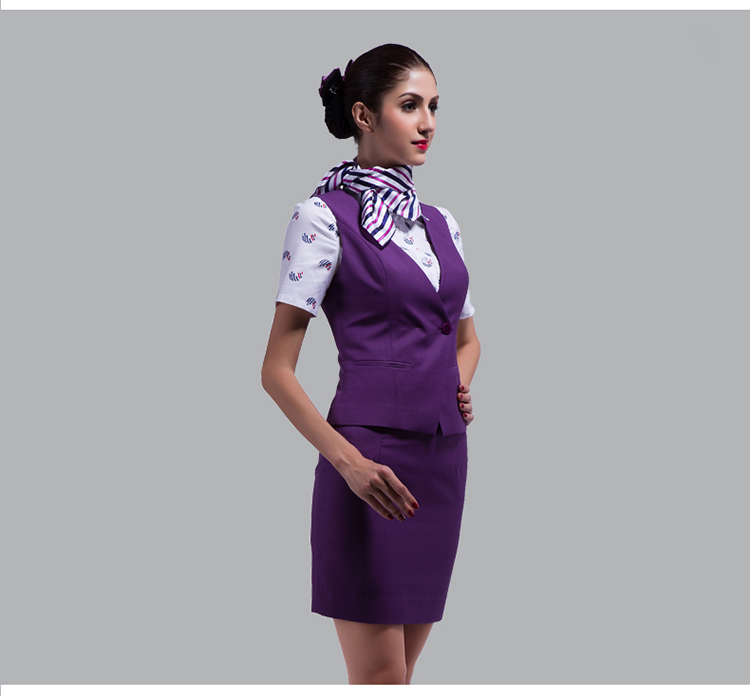 women skirt scarf vest air asia hostess uniform set