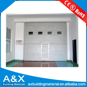 Steel Sectional Industrial Doors/CE approved PU foam insulated Industrial doors/ Factory use Industrial Doors