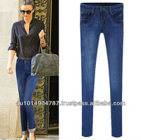 latest EUROPEAN lady denim jean 6080
