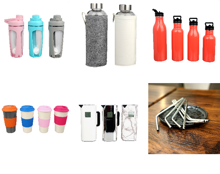 glass water bottle and sleeve