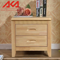Simple european modern nature china supplier 2 drawer night stand