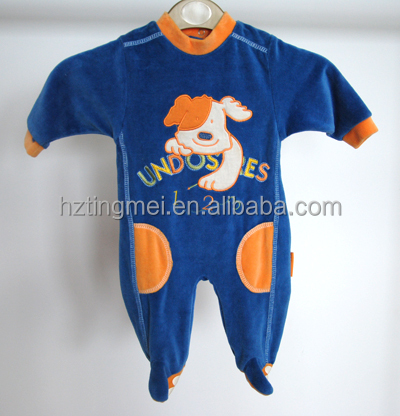 Baby cute onesie pajamas with drop seat