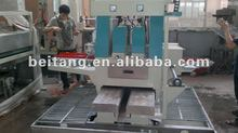 Glass double round edger machine for grinding bilateral pencil edge