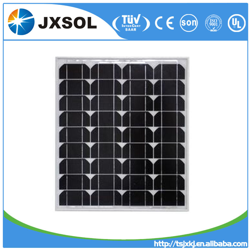 high efficiency quality A grade cell pv module mono 50 watt solar panels