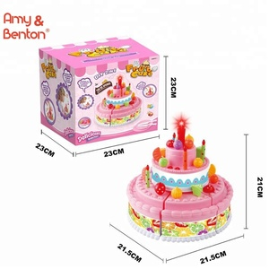 Kids Birthday Cake Toy For Baby Toddlers With Counting Candles And Music Best Gift