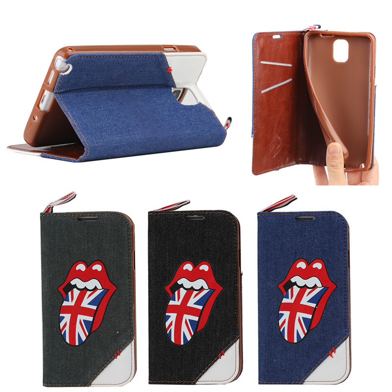 Big Red Mouth Jeans funny case for samsung galaxy note3 with stand