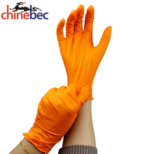 Diamond Grip Disposable Green Nitrile Glove for Automotive Industry