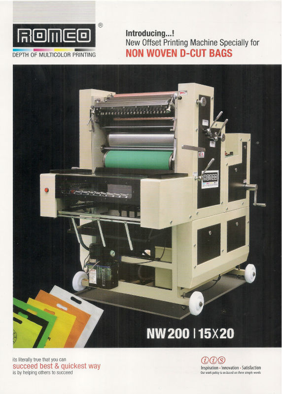 MULTI COLOR PRINTING OFFSET CUM NON WOVEN D CUT BAGS PRINTING MACHINE