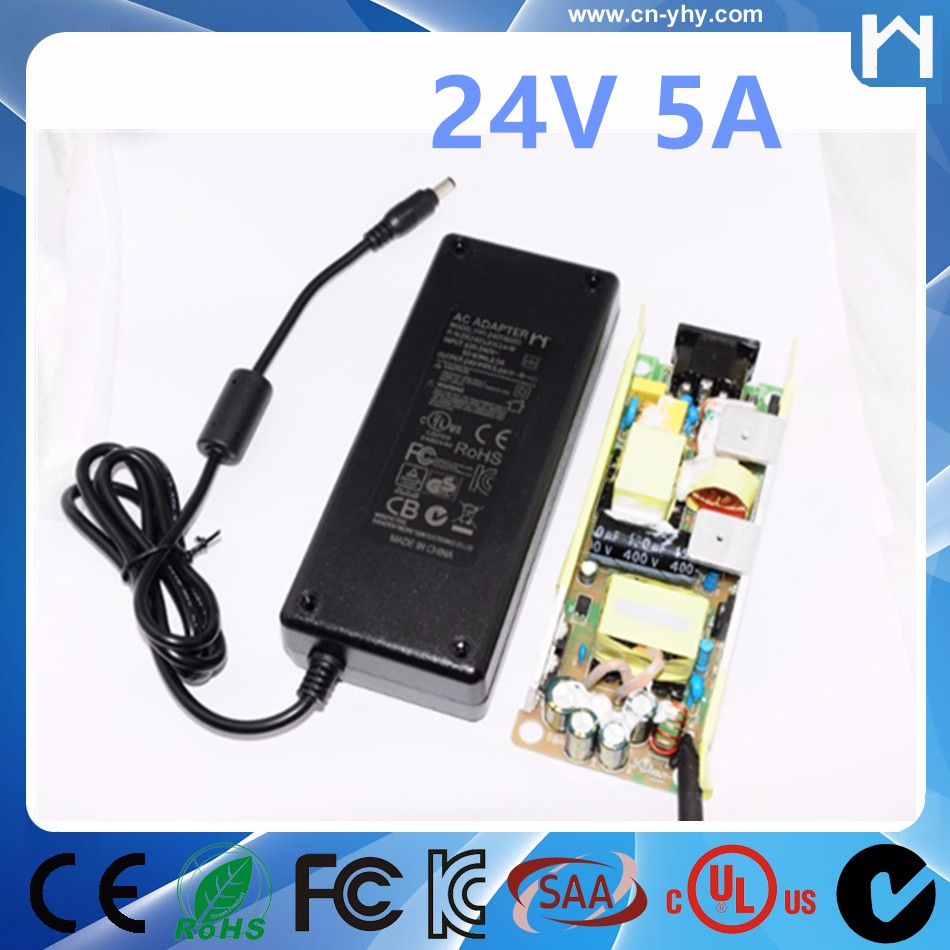 24V 5A power adapter 120w desktop connection power supply