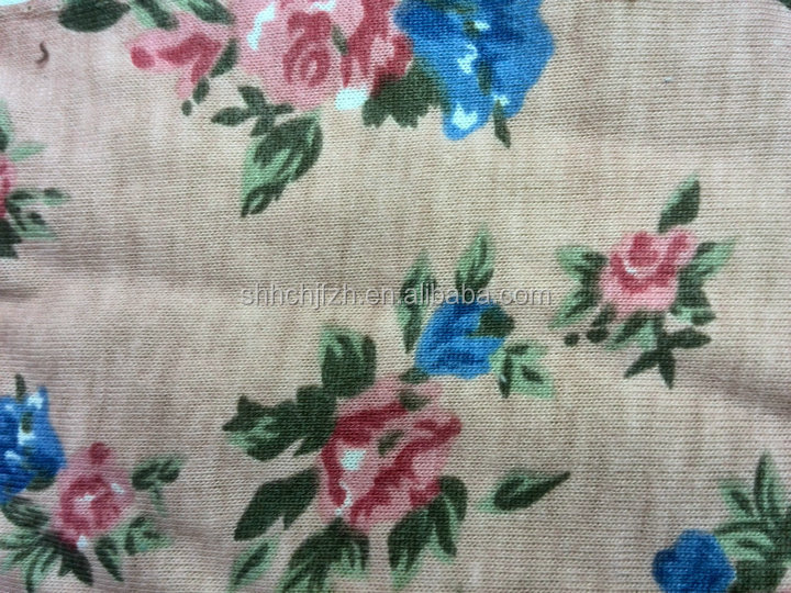 spandex custom printed cotton fabric