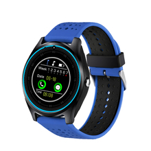 2017 round shape smart watch phone with 2g SIM calling, camera 0.3MP, compatible with Android and IOS Gsm bluetooth watch phone
