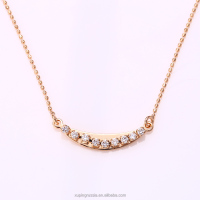 41966 -xuping trendy fashion 18k gold cheap fancy copper alloy crystal necklace